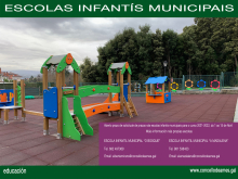 Cartaz informativo das escolas infantís municipais