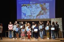 Foto de familia dos premiados e premiadas