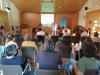 Faladoiro de David Santomil no curso sobre comedores escolares ecolóxicos