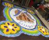 Imaxe da alfombra floral feita en Pousada