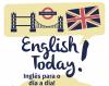 Cartel do curso de inglés English Today!
