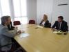 Imaxe da reunión coa xerente de Suelo Empresarial del Atlántico