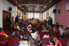 Alumnos/as do CEP de Ventín no salón de plenos