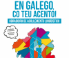 Cartaz obradoiro En galego, co teu acento