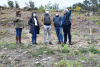 Imaxe da visita feita á parcela municipal repoboada en Pedra Dourada
