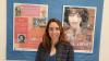 concelleira de Mocidade e Normalización Lingüística, Escarlata Pampín, visitou a mostra de Xela Arias que está na Casa da Cultura de Bertamiráns